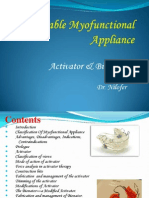 Removable Myofunctional Appliance Partial