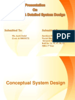 Conceptual and Detailed Sys Design
