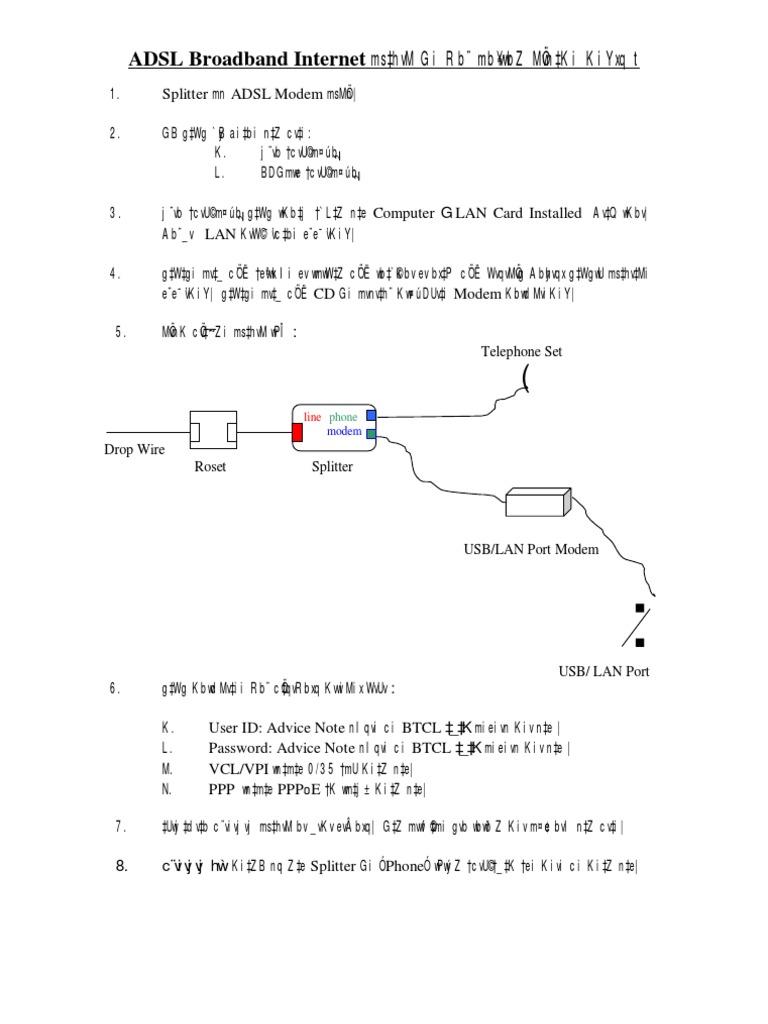 Adsl Connection Diagram Naomi Wiring