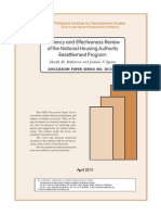 effeciency and effectiveness review of the national housing authority resettlement program