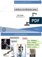 Singla E., Performance Indices for Robotic Arms