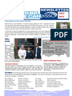 KSSC Newsletter July 2013
