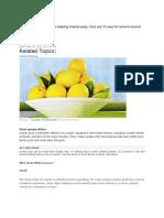10 Uses for Lemons