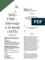 Dryden Marriage a La Mode