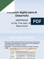 Inclusion Digital Para El Desarrollo