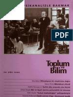 toplum ve bilim sayı 70