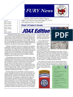 2FURY JOAX Newsletter Volume 3 Issue 1 JOAX Edition
