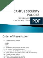 Campus Security Policies, 26 Sept 2012