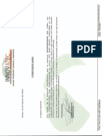 Certificado Implementacion ISO17025-2005 Docx