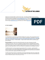 Letter of the Lords - July 18, 2013
