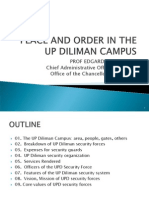 Peace and Order in the Up Diliman Campus, Rev 17 Jan 2013