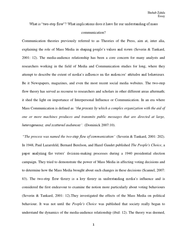 history of mass communication essay Departmental structures within such colleges may separate research and instruction in professional or technical aspects of mass communication research includes media institutions and processes, such as diffusion of information, and media effects, such as persuasion or manipulation of public opinion.