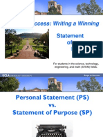 State of Purpose Letter Ppt