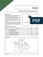 TDA2003 Audio Amplifier