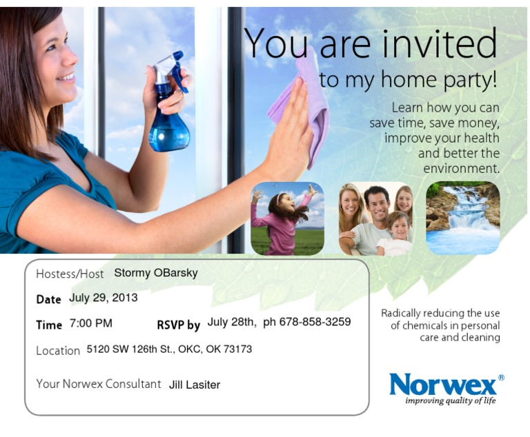 Norwex Party Invitations Southernsoulblog Com