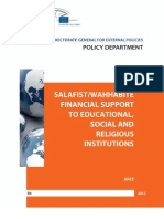 Salafist/Wahhabite financial support to educational, social and religious institutions