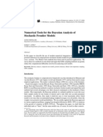 Numerical Tools for the Bayesian Analysis of Stochastic Frontier Models