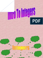Integers Intro