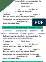 Bodmas Notes