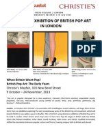 When Britain Went Pop! - Christie's And Waddington Custot Galleries Present The First-Ever Exhibition Of British Pop Art In London