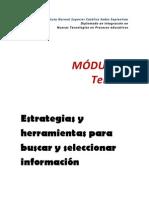 MODULO 2 Tema 1 Estrategias y Herramientas Para La Busqueda y Seleccion de La Informacion
