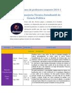 Demos Recomendaciones Semestre 2014-1