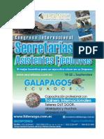 Congreso Internacional de Secretarias Galapagos Ecuador - Septiembre 2013