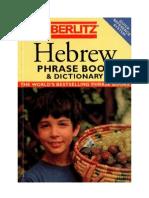 Langue Hébreu Berlitz Guide de Conversation et Lexique pour le Voyage (+Vocabulaire)
