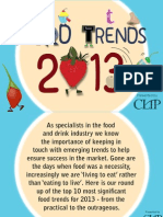 Food and drink trends 2013-2014 by CLIP Creative and PR