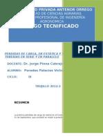 1 INFORME DE RIEGO  (potencial en el suelo, evapotranspiración y rendimiento de cultivo)