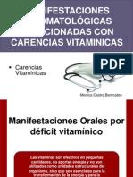 Vitaminas - manifestaciones orales