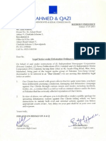 Our Reply to the legal notice from Geo Network
