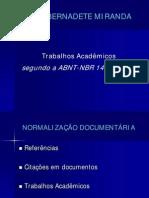 norma abnt - nbr 14724 -  texto sobre trabalhos acadêmicos