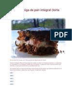 Torta de Miga de Pan Integral