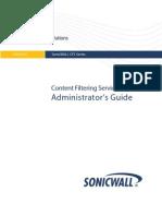 SonicWall CFS Admin Guide