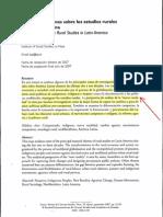 10-Kay- Analisis de Estudios Rurales en Aca Latina