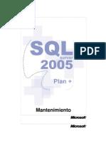 Manual SQLServer2005 Mantenimiento