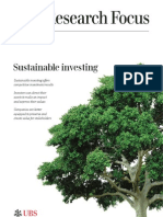 UBS Research Focus, Sustainable Investing, July 2013.