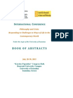 Philosophy and Crisis, Ioannina 2013-Book of Abstracts