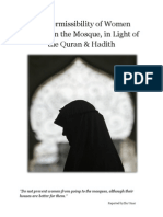 permissibility of muslim women praying in mosques in light of the quran  hadith