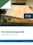 The Universal Savings Credit