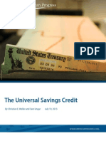 The Universal Savings Credit