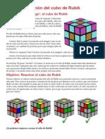 Manual de La Solucion Al Cubo de Rubik