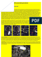 EDC Pump Testing Procedures