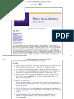 July 2013 Parish Social Ministry News and Notes