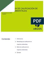 METODOLOGÍA PARA LA CALIFICACIÓN DE LOS IMPACTOS AMBIENTALES