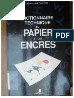 Λεξικό τεχνικών χαρτιού και μελανιών