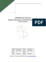 Memoria de Cálculo (Galpón Misceláneo PLASTICOS DIXIE 30x14)
