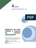 UFPE_RELATÓRIO Análises de metais por  espectroscopia de absorção atômica