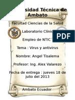 Virus y antivirus -Historia, clasificación, características y sistemas operativos donde funcionan..odt